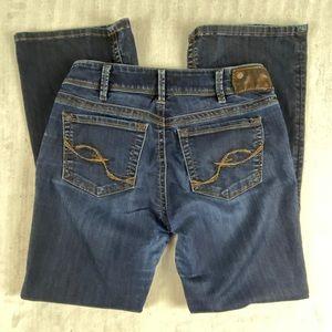 Silver Suki Blue Jeans Sz W30/L30 Bootcut Factory Fade Well Worn Super Soft
